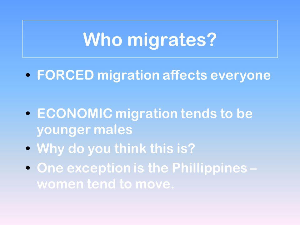 Who migrates.