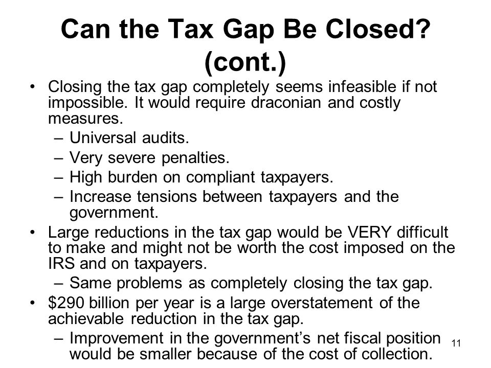11 Can the Tax Gap Be Closed.
