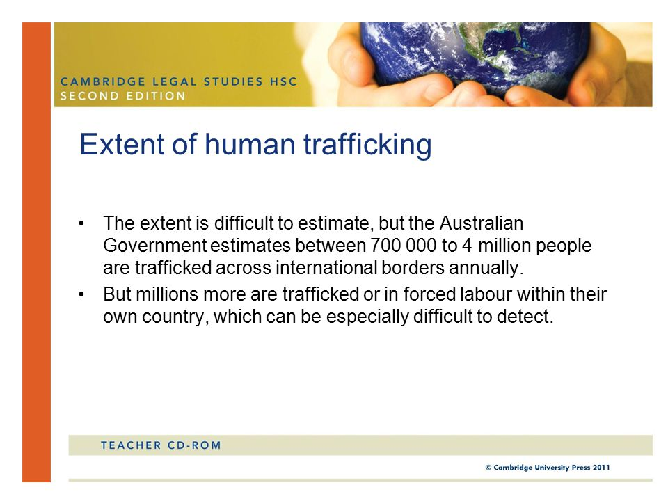 The annual Trafficking in Persons Report lists Australia as a Tier 1 best practice country, but identifies a number of areas where improvements can be made.