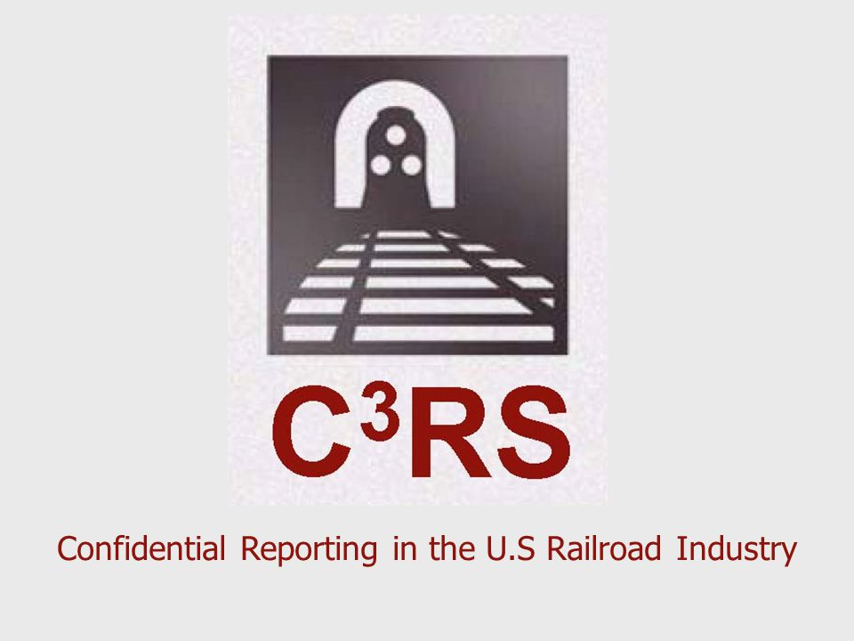 Confidential Reporting in the U.S Railroad Industry