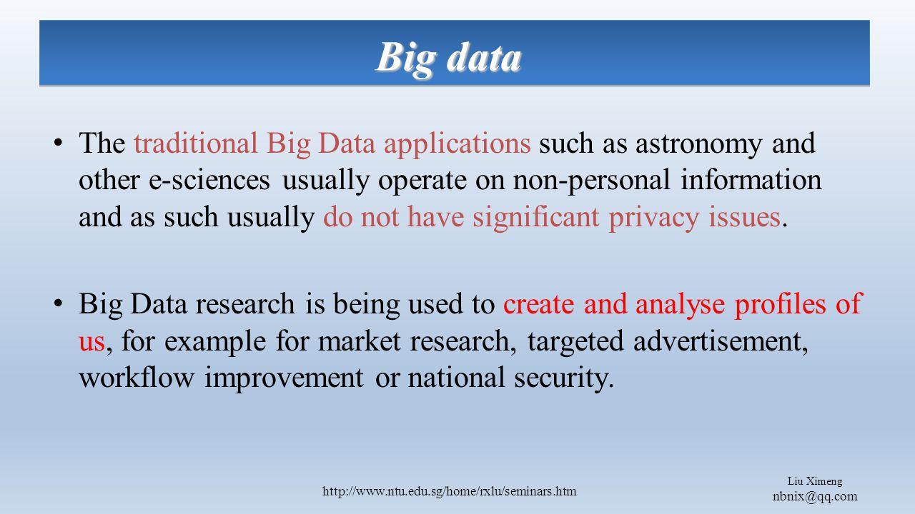 Liu Ximeng nbnix@qq.com http://www.ntu.edu.sg/home/rxlu/seminars.htm User's privacy based on dangers created by the user himself while sharing media.