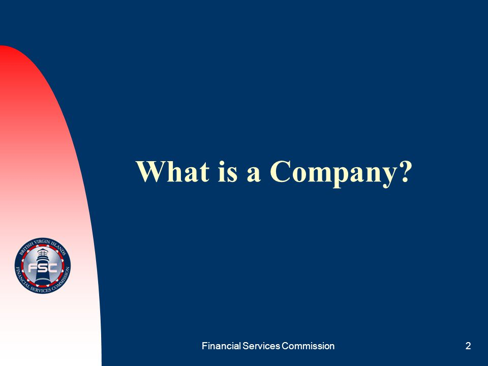 Financial Services Commission2 What is a Company?
