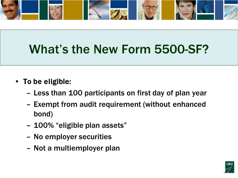 What's the New Form 5500-SF.