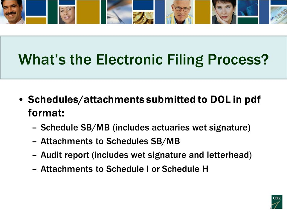 What's the Electronic Filing Process.