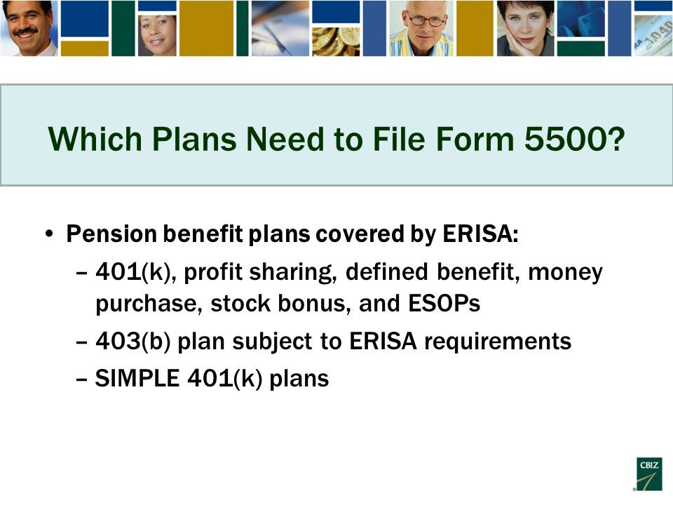 Which Plans Need to File Form 5500.