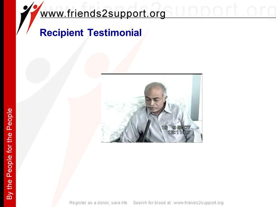Recipient Testimonial