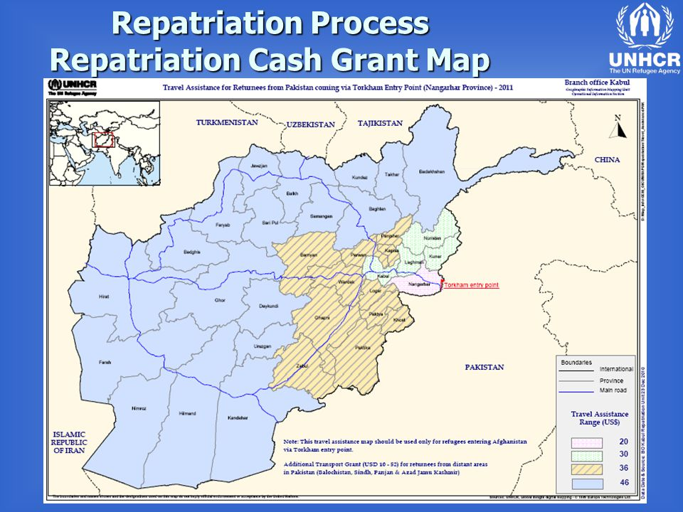 Repatriation Process Repatriation Cash Grant Map