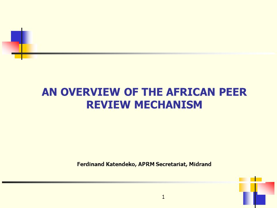 Outline of the Presentation Background Principles of APRM Four Themes of APRM Operational structure of APRM Status of implementation Challenges Overcoming challenges Conclusion 2
