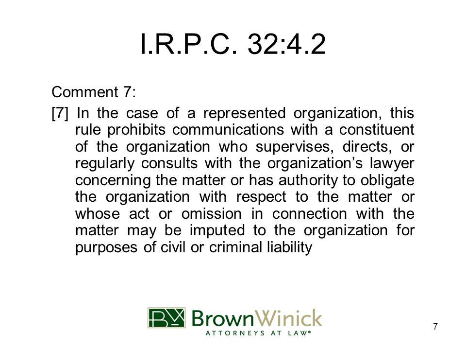 7 I.R.P.C.
