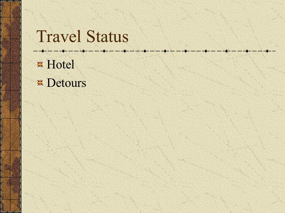 Travel Status Hotel Detours