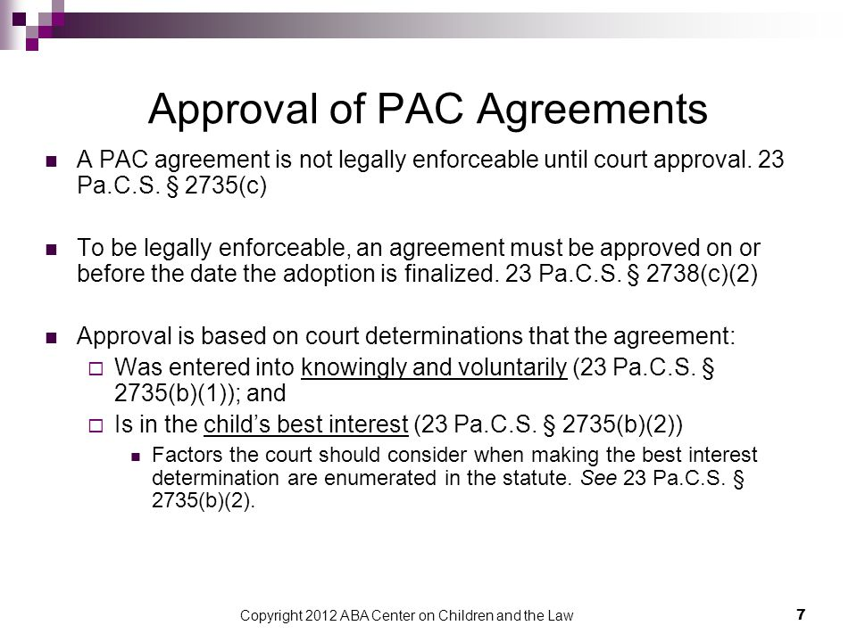 8 What terms can PAC include.