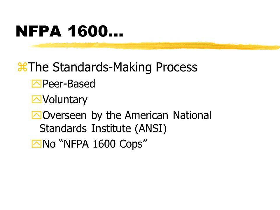 NFPA 1600...
