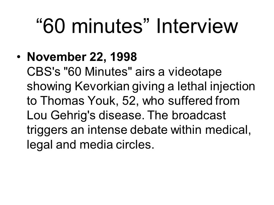 """60 minutes"" Interview November 22, 1998 CBS's"
