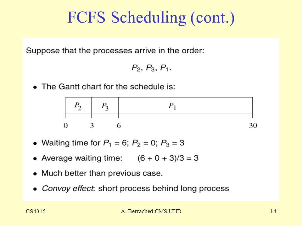 CS4315A. Berrached:CMS:UHD14 FCFS Scheduling (cont.)