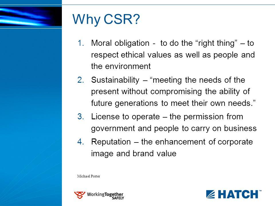 Why CSR.