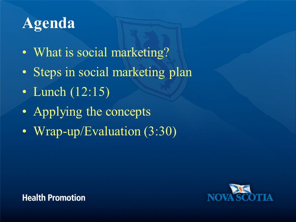 Agenda What is social marketing.