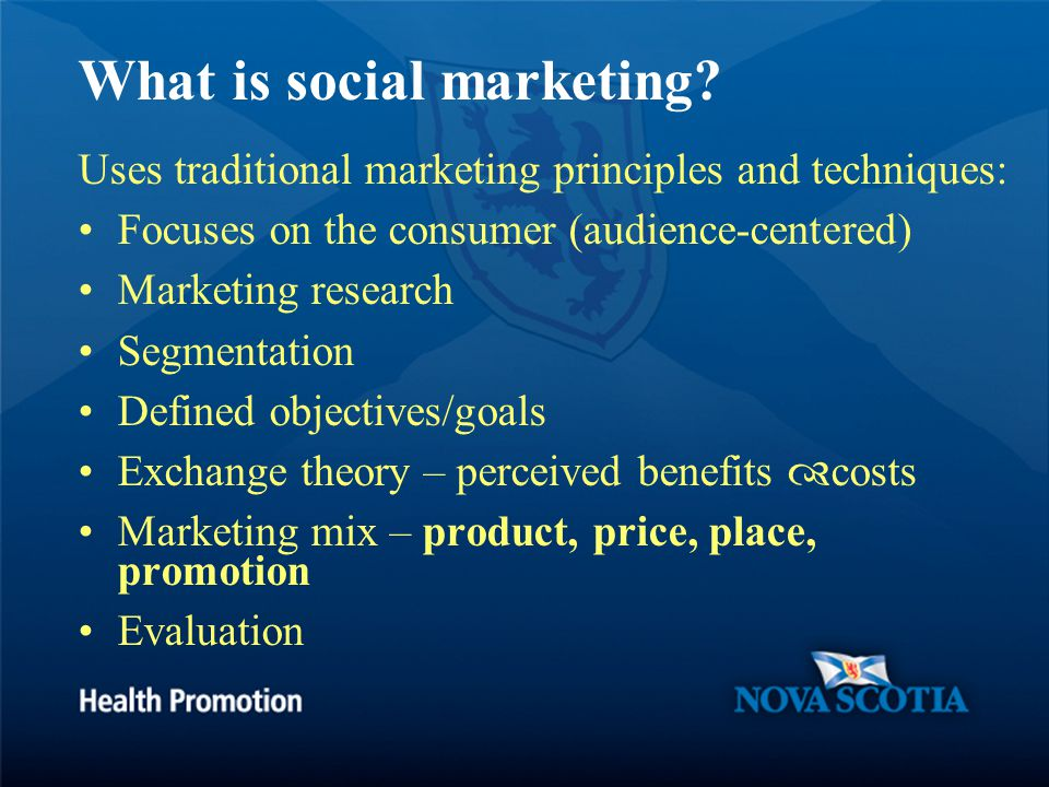 What is social marketing.