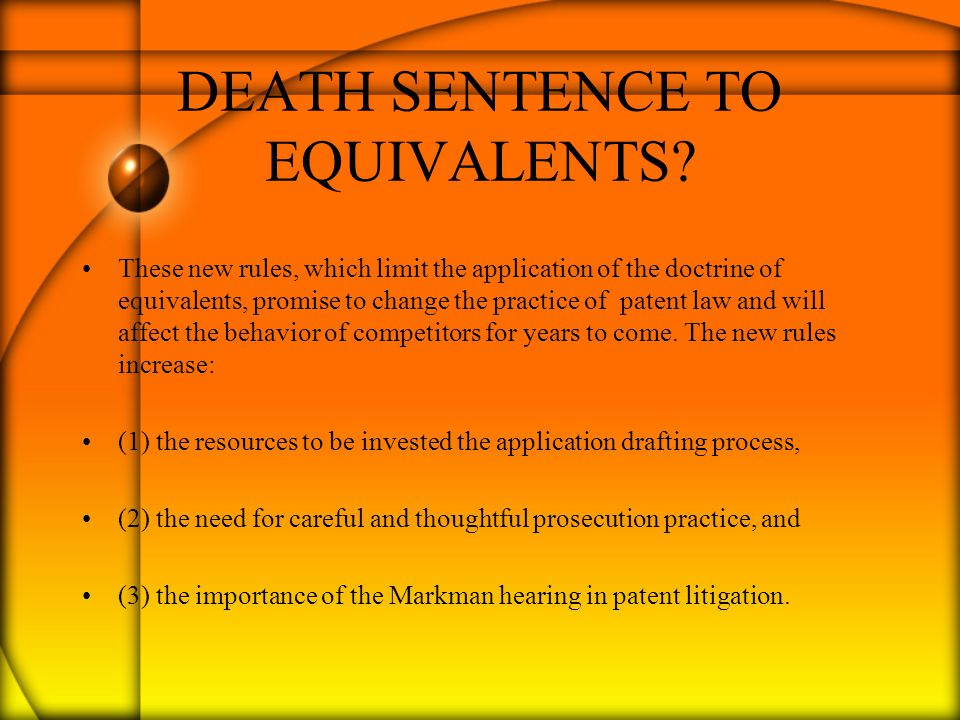 DEATH SENTENCE TO EQUIVALENTS.