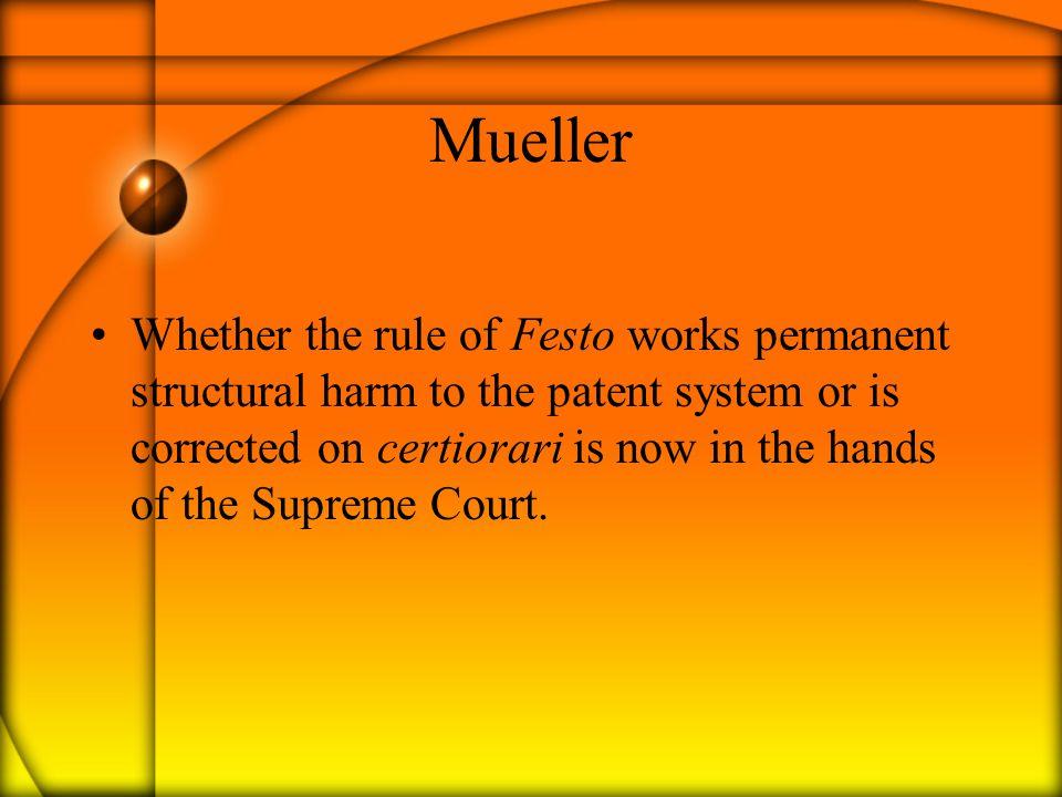 Question 4 When no explanation [for a claim amendment] is established, Warner- Jenkinson, 520 U.S.