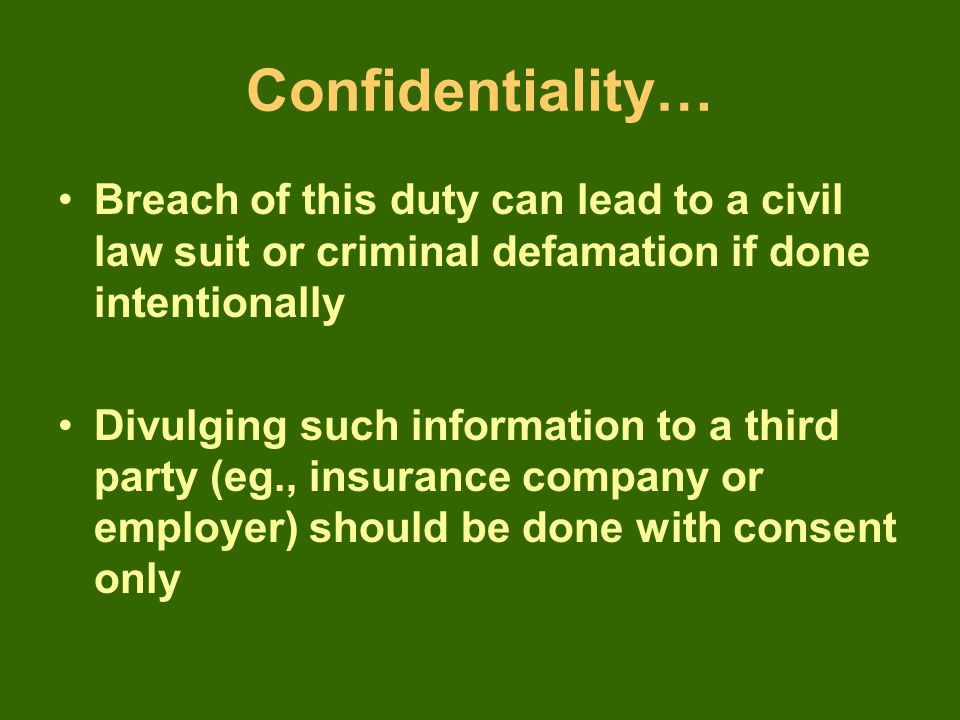 (4) Notification to police When a crime is committed against the patient or by the patient.
