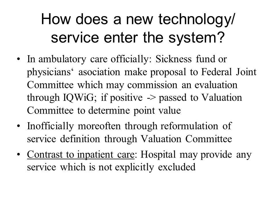 How does a new technology/ service enter the system.