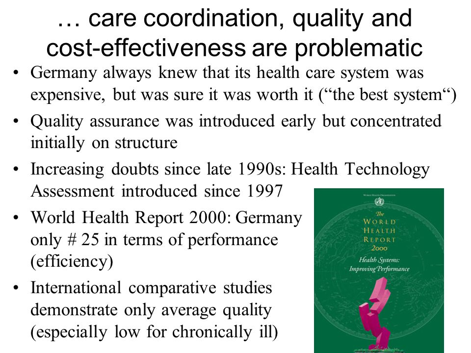 "Legal attempts to improve care coordination/ overcome sectorisation Pre- and post-inpatient care in hospitals (1997) ""Integrated [i.e."