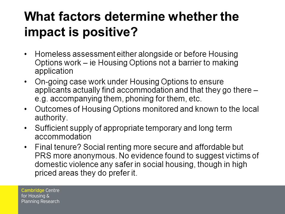 What factors determine whether the impact is positive.