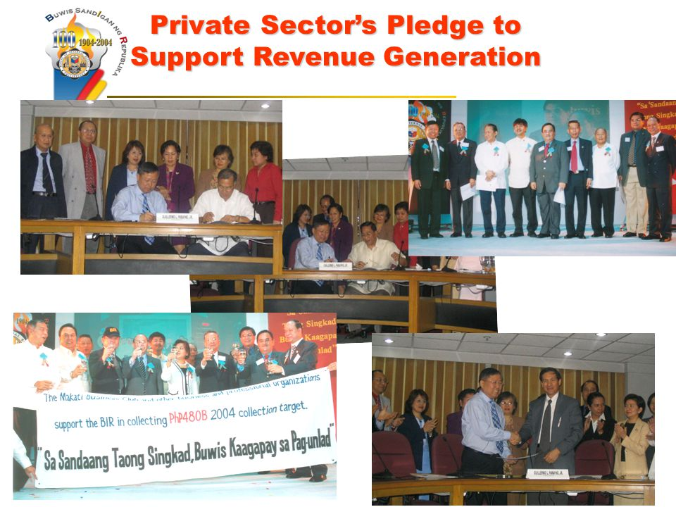 Private Sector's Pledge to Support Revenue Generation