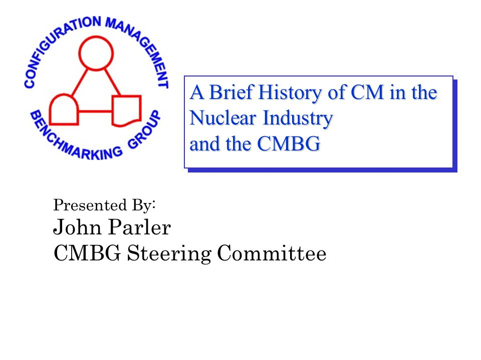 INPO 03-04 (November 2003) Performance Objectives and Criteria Configuration Management CM.1Maintaining Margins Consistent with Design Requirements CM.2Operational Configuration Control CM.3Design Change Processes CM.4Conduct of Engineering CM.5Reactor Engineering and Fuel Management A Brief History of CM in the Nuclear Industry