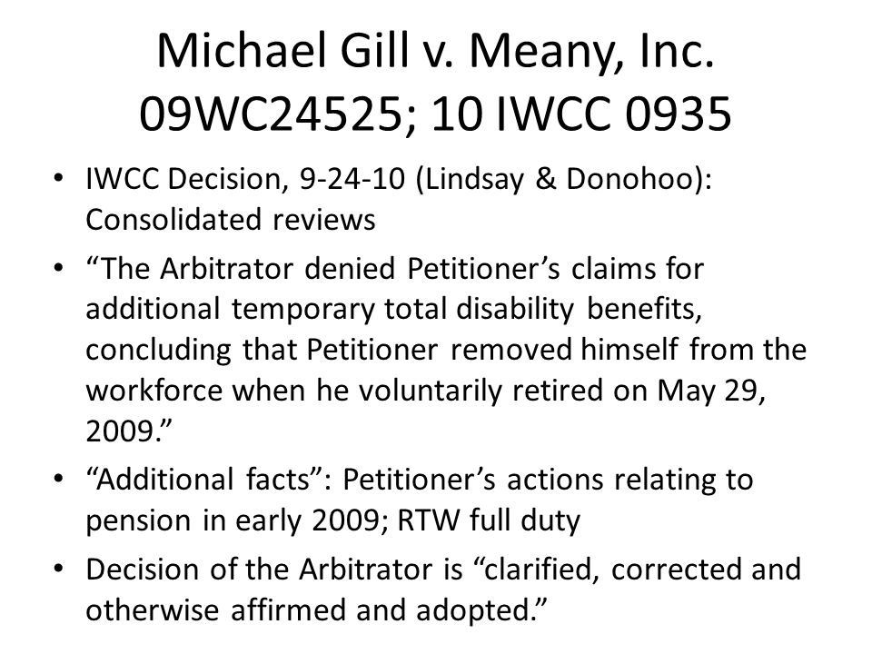 Michael Gill v. Meany, Inc.