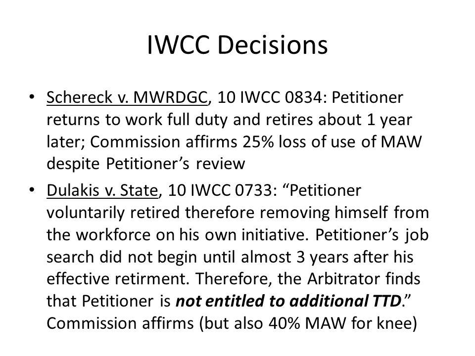 IWCC Decisions Schereck v.