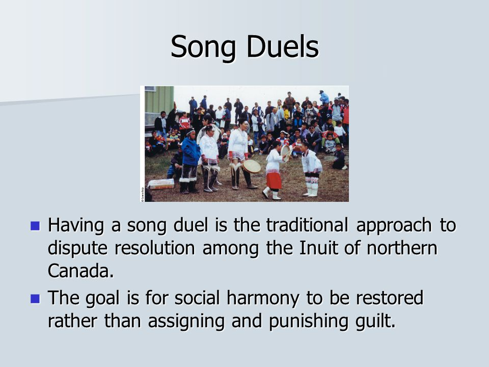 Restorative Justice and Conflict Resolution: In tribal and band societies, agreement is less likely to be coercive because all concerned individuals can negotiate and mediate on relatively equal terms.