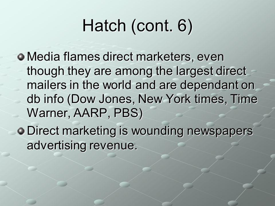 Hatch (cont.