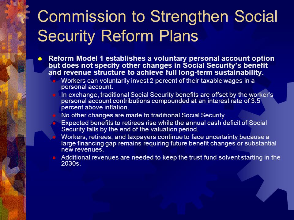 Social Security Finance and Budget Projections  Projected deficits results of assumptions  Demographic projections, labor force participation, unemployment, labor productivity, real wage growth, price inflation, growth in national income.