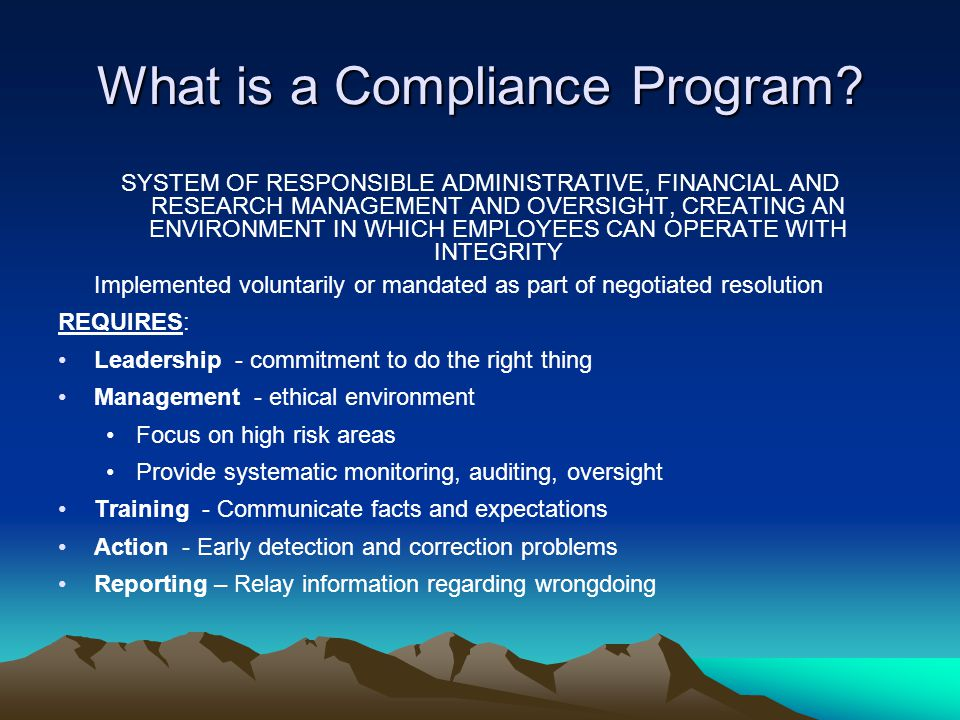 What is a Compliance Program.