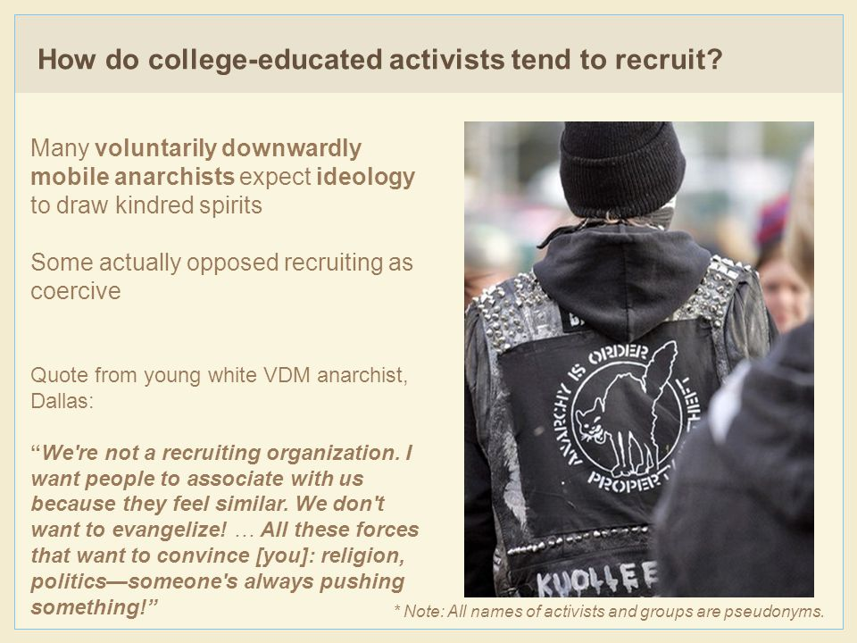 How do college-educated activists tend to recruit.