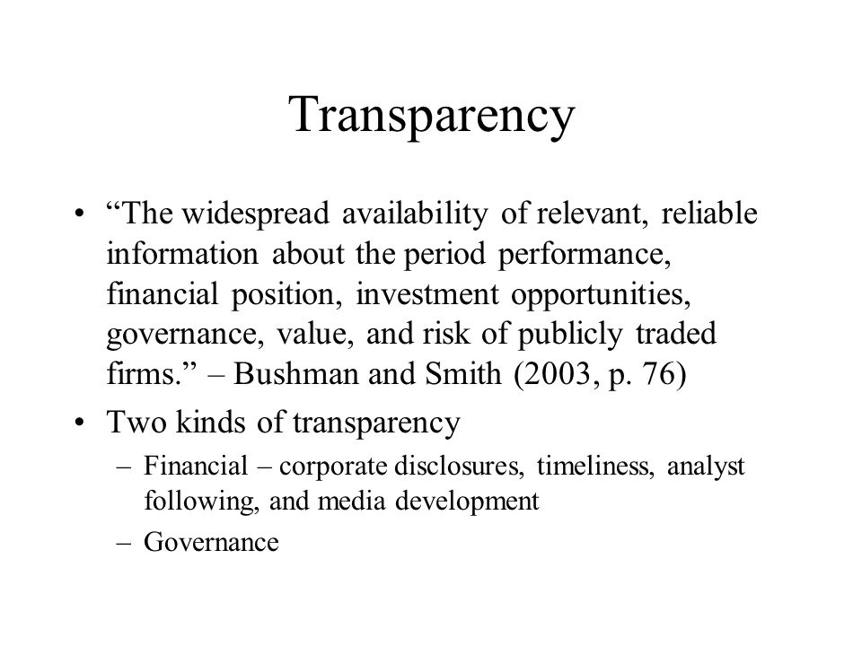 Pressures for Information Disclosure Demands –Increased availability –Increased quality –More information supplied, the more people want –Demand for specialized information –Tension between the need for more information and the complexity introduced by distributing more information –Trend toward greater accountability