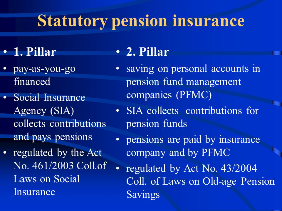 Statutory pension insurance 1.