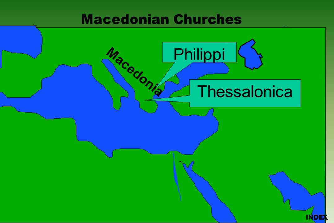Click to add title Click to add textClick to add text Israel Macedonian Churches Bible Lands Blank Map INDEX PhilippiThessalonica Macedonia