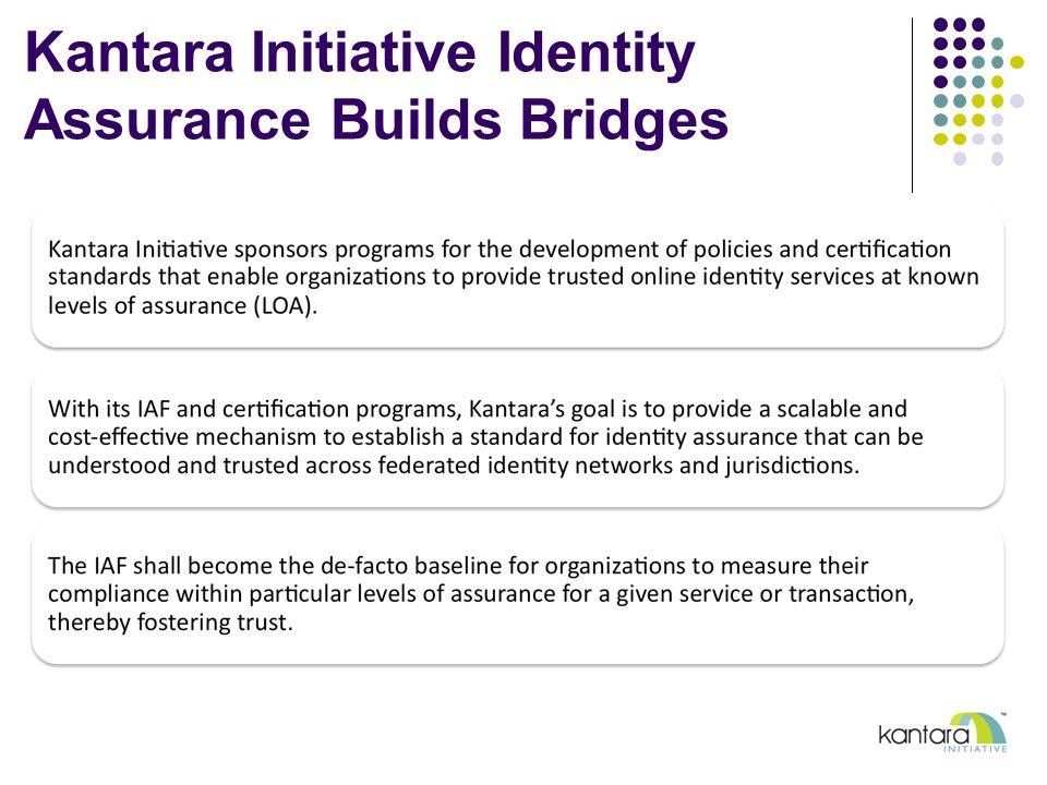 Kantara Initiative Identity Assurance Builds Bridges