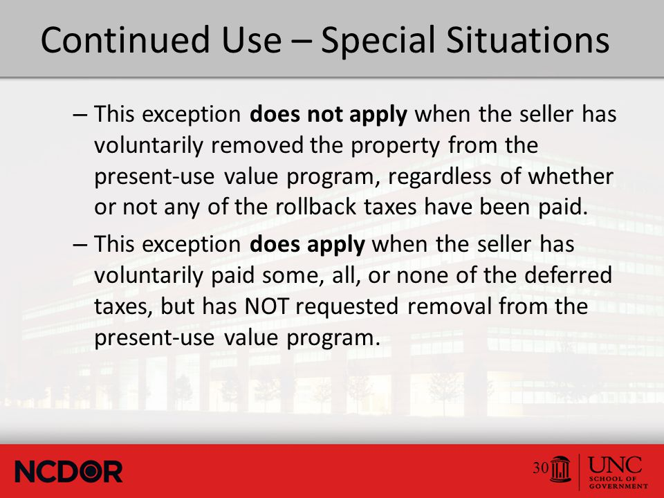 Continued Use – Special Situations – This exception is not required when the owner is a business entity, and either converts to another business entity form or merges with one or more other entities.