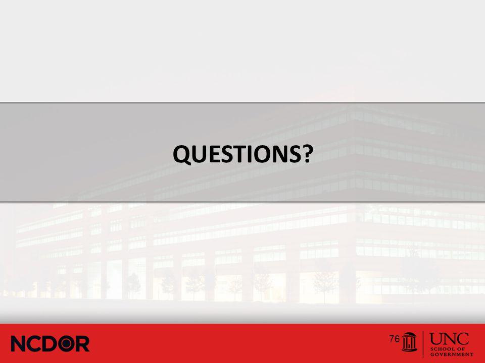 QUESTIONS 76