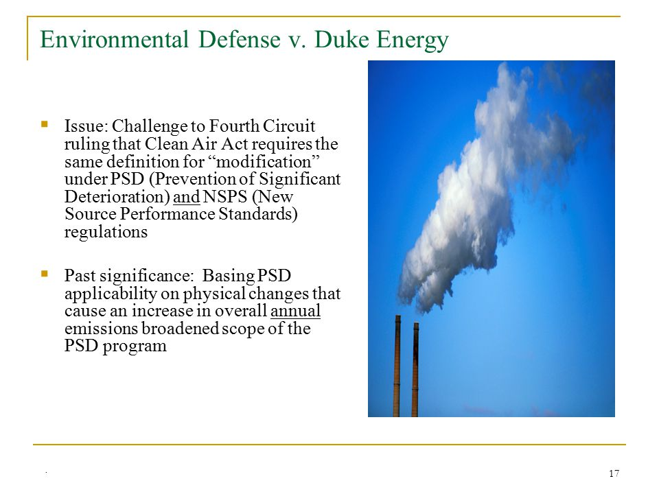 17 Environmental Defense v.