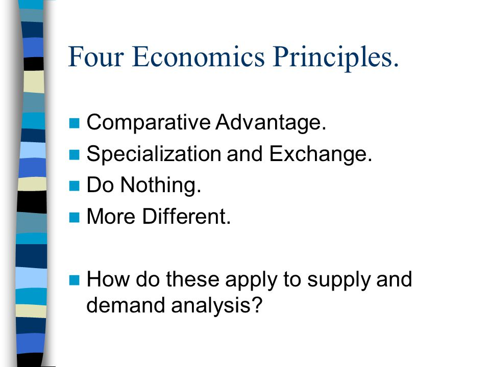 Four Economics Principles. Comparative Advantage.