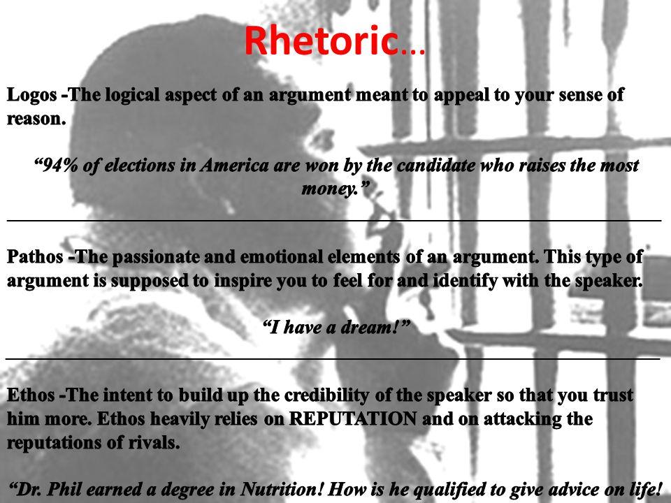 Rhetoric …