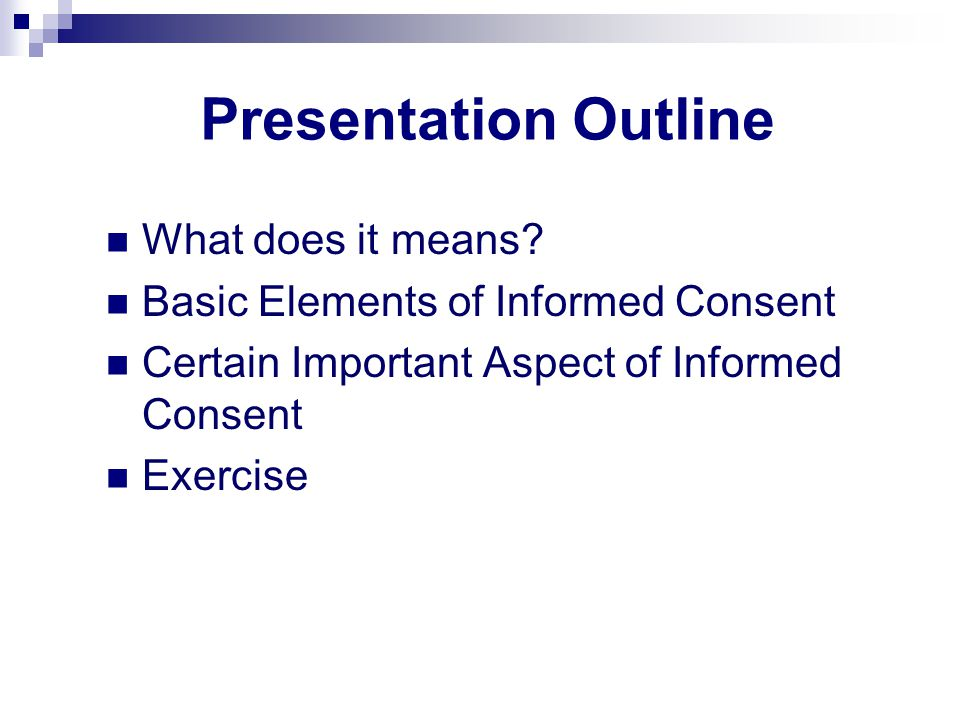 Presentation Outline What does it means.