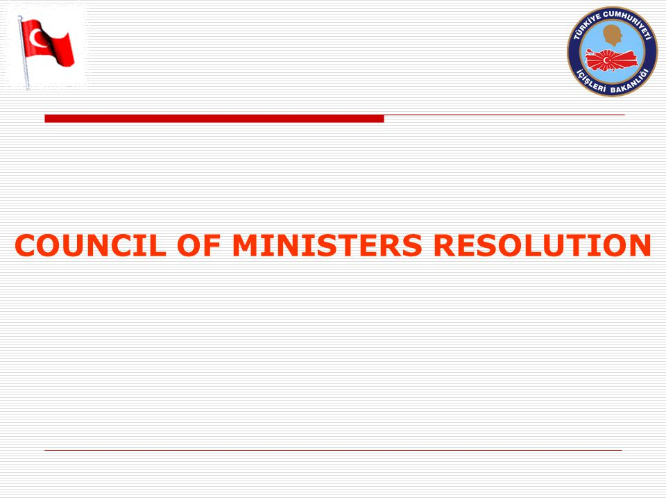 COUNCIL OF MINISTERS RESOLUTION