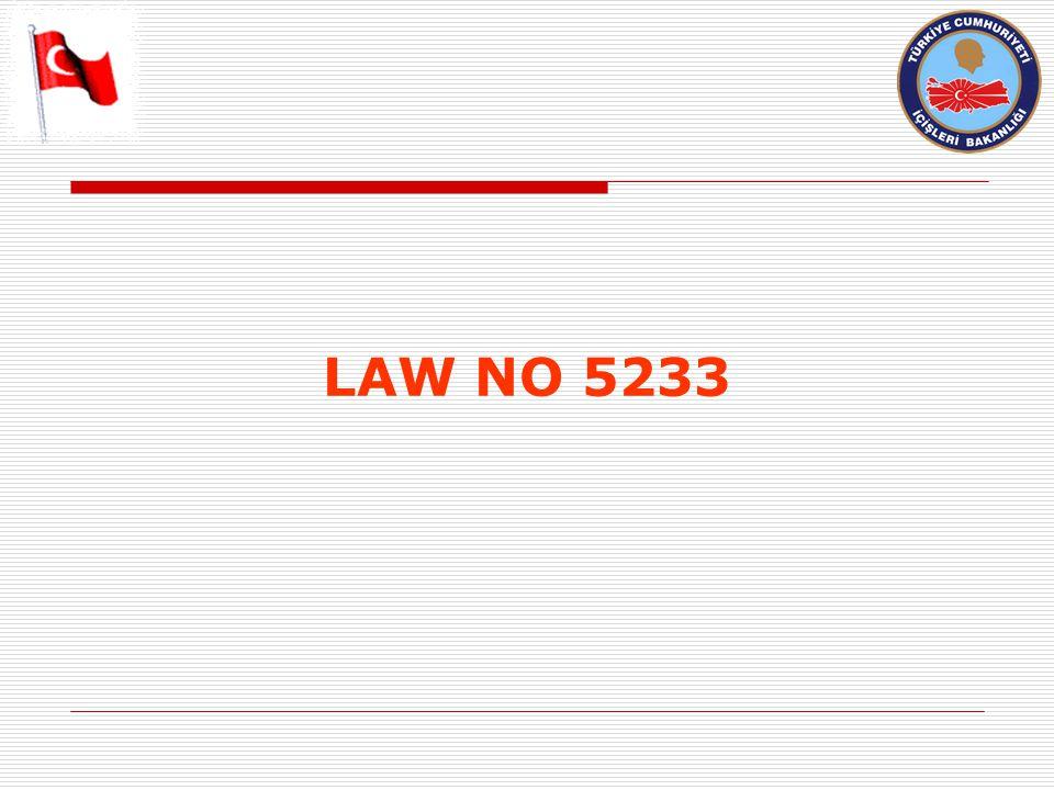 LAW NO 5233