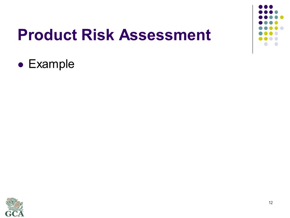 Product Risk Assessment Example 12