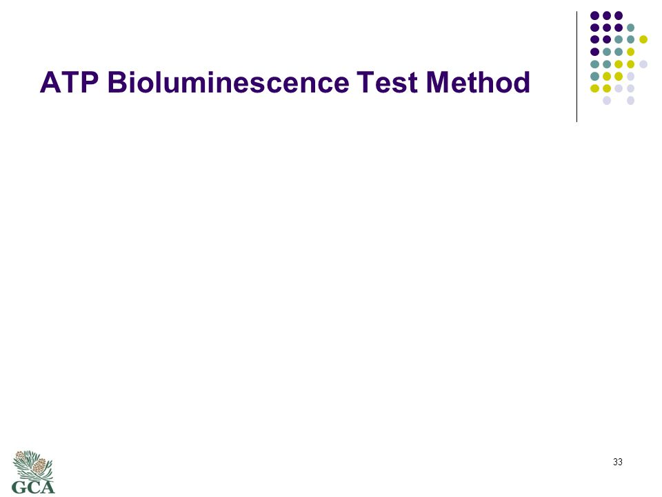 ATP Bioluminescence Test Method 33